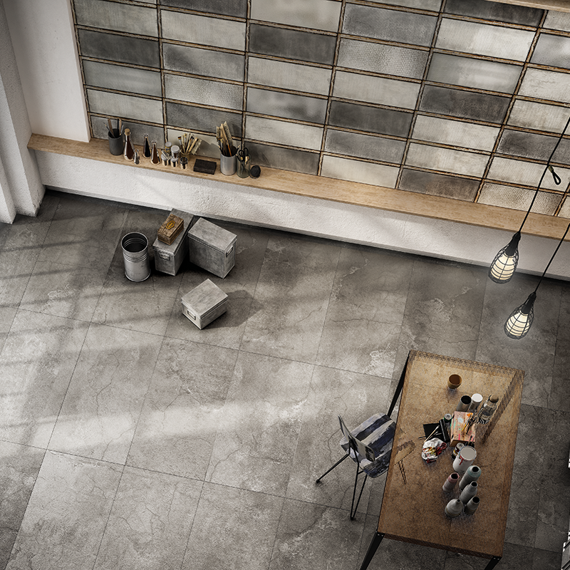 Industrial Glass Grey, Concrete Grey setting